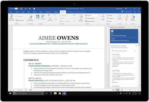 Microsoft is debuting a new feature for Office 365 subscribers today that's designed to help job hunters construct sublime resumes. The new Resume Assistant is baked directly into Microsoft W…