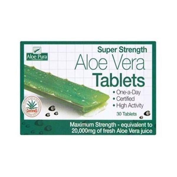 Aloe Pura Super Strength Aloe Vera 30 Tablets
