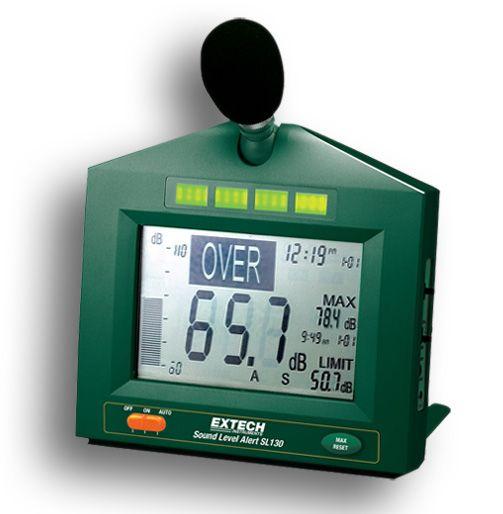 http://www.termometer.se/Handinstrument/Ljudmatning/Ljudmatare-med-varning-for-hogt-ljudtryck.html  Ljudmätare med varning för högt ljudtryck - Termometer.se  I bullriga miljöer som är skadliga för hörseln (exempelvis tung industri) eller där man önskar hålla en låg ljudvolym (exempelvis skolor eller sjukhus) ger denna ljudnivåmätare med visuell display en tydlig indikation om att ljudnivån är för hög.   Åtgärder kan då vidtagas. Ljudmätaren har även minne som visar högst uppnådda...
