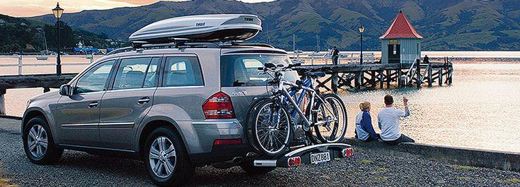 thule roof box and bike rack