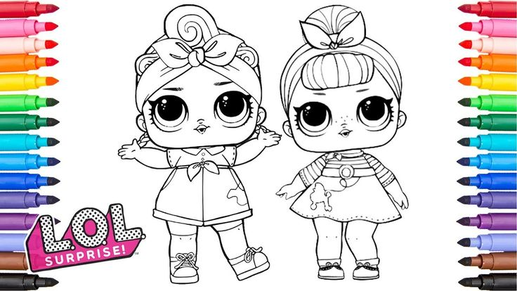 coloring lol surprise dolls can do baby and sis swing