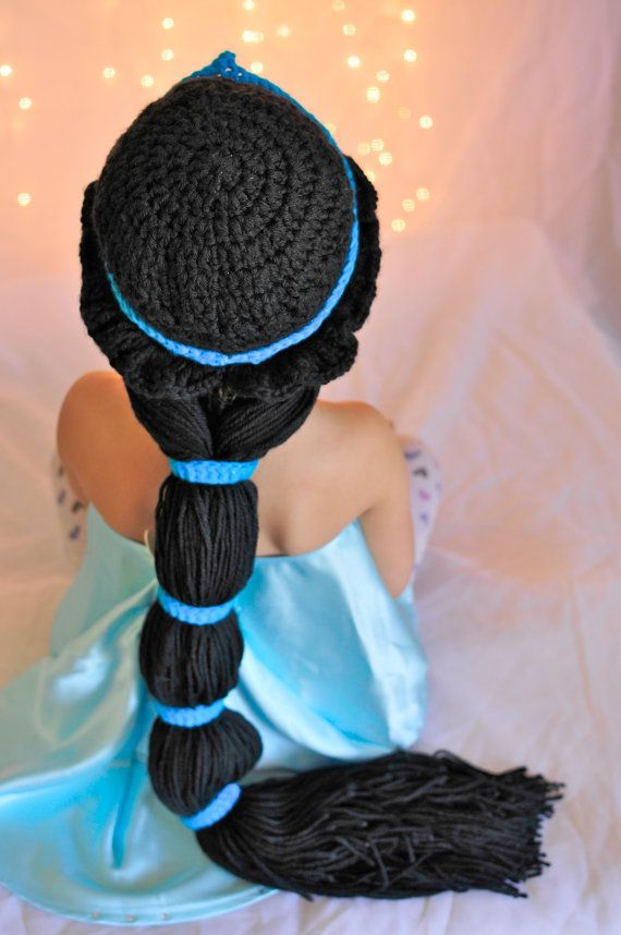 Crochet Princess Jasmine inspired hat wig by JazzyOandFamily