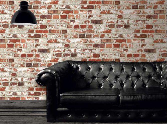 Les 25 meilleures id es concernant papier peint effet - Papier peint imitation brique leroy merlin ...