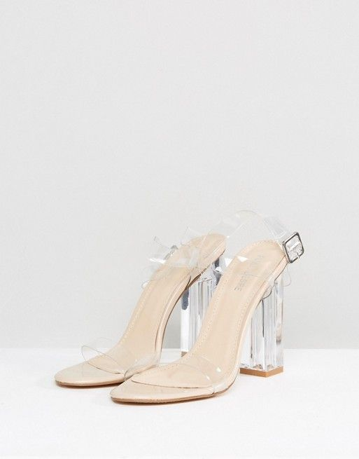 84303479ce3 Public Desire Alia Clear Perspex Heeled Sandals in 2019   shoes ...