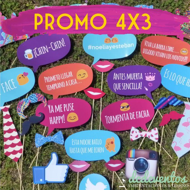 PROMO 4X3: Props de colores - Tienda DCD Eventos