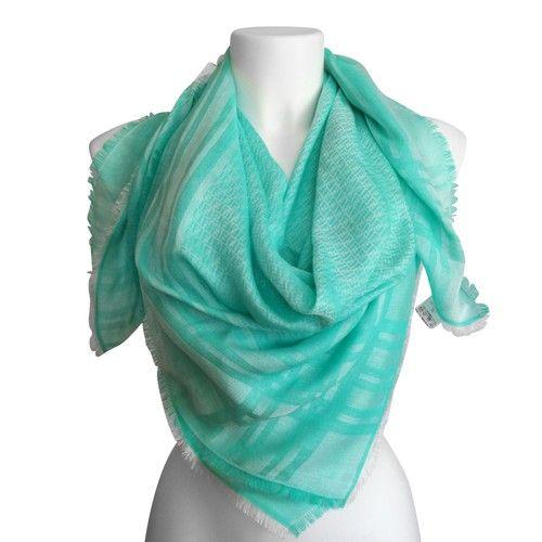 best service 14a01 3f97d FENDI - stola, foulard in verde acqua   MY WARDROBE ON SALE ...