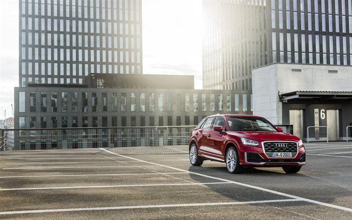 Audi Q2, crossovers, 2017 cars, purple q2, Audi