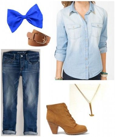"""Fashion Inspiration: Disney's """"Wreck-It Ralph"""" – College Fashion Replace shoes with brown Converse hi-tops"""
