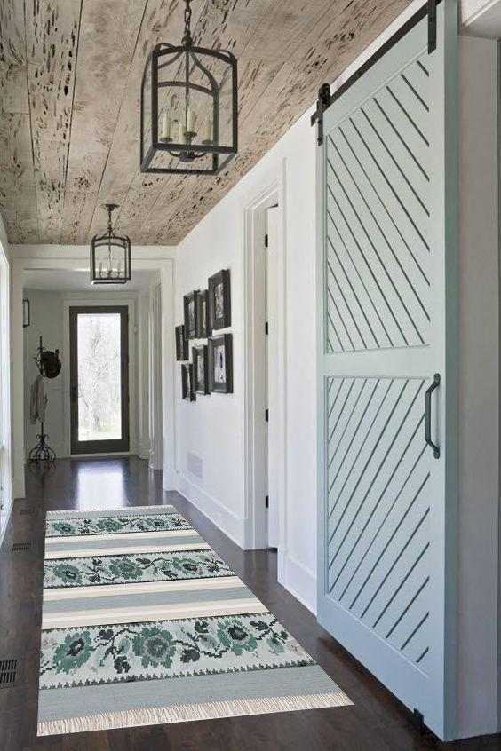 Beautiful Robin's Egg Blue barn door. #barndoors