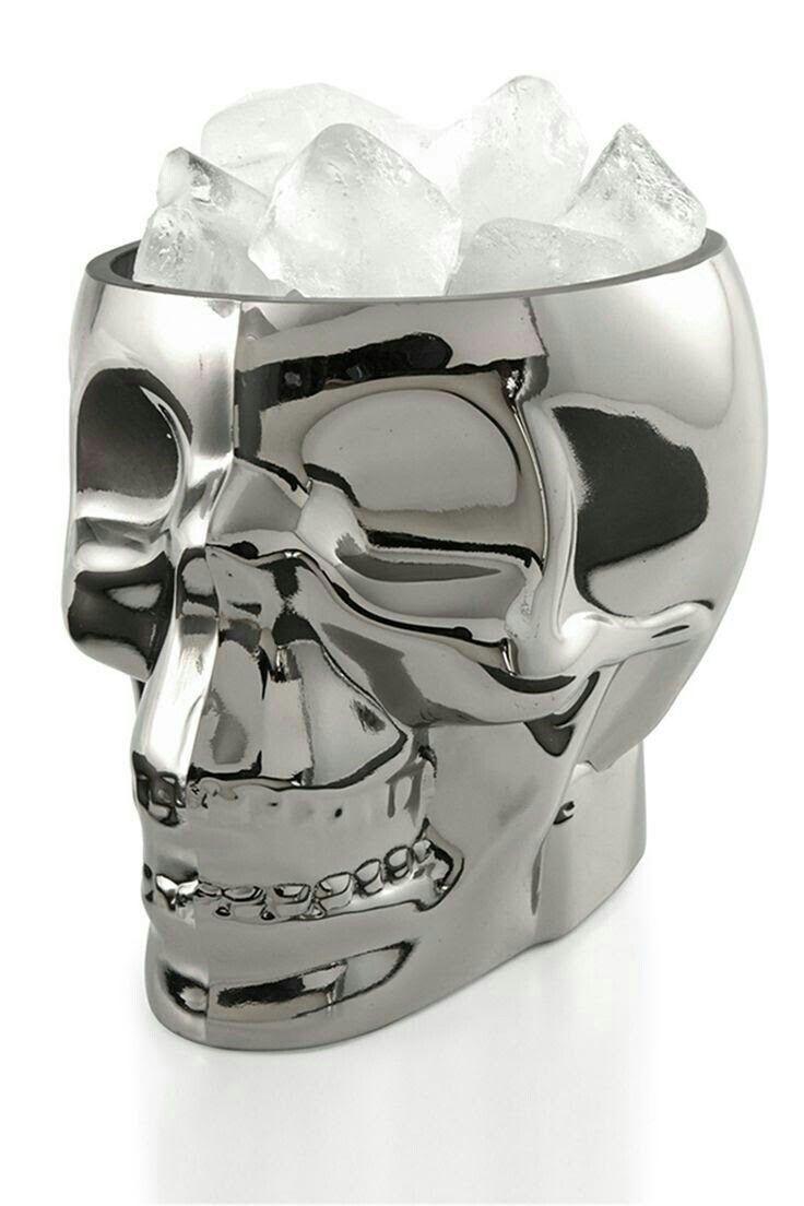 Black skull chair - Skull Ice Bucket