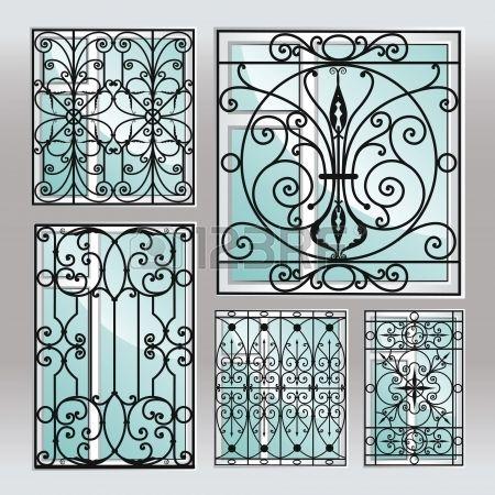 Conjunto de latticies janela de ferro.
