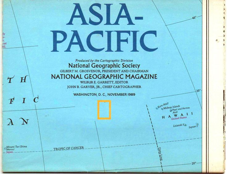 National Geographic Map Asia Pacific 1989 Good Shape By Vintagenejunk On Etsy