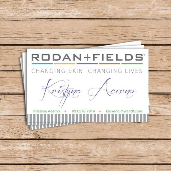 14 best Rodan Fields Business Cards images on Pinterest Business