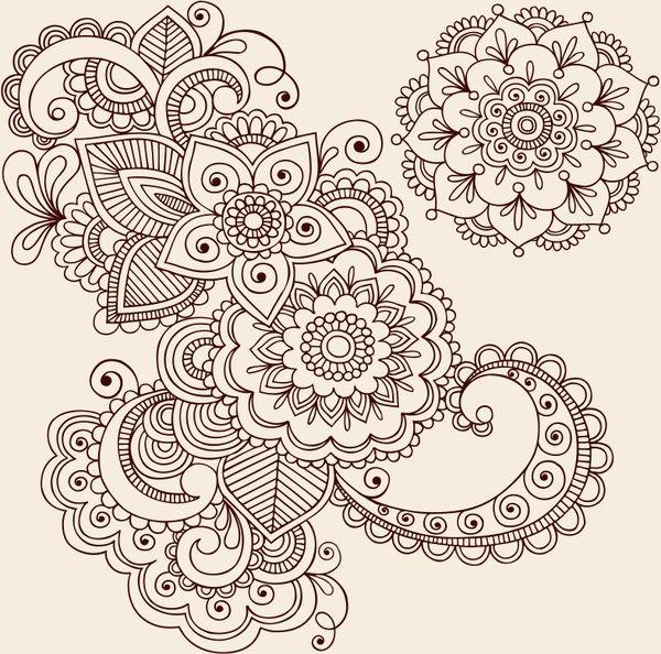 intensive handpainted pattern vector