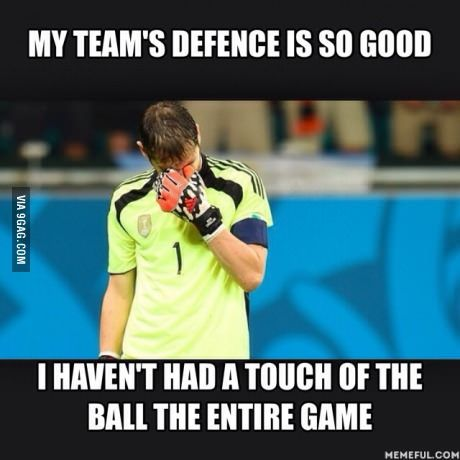 Sometimes during a scrimmage my brother the goalie tells us defense to let some of the balls go to him because he's bored