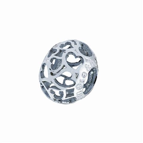 Amore& Baci light silver bead