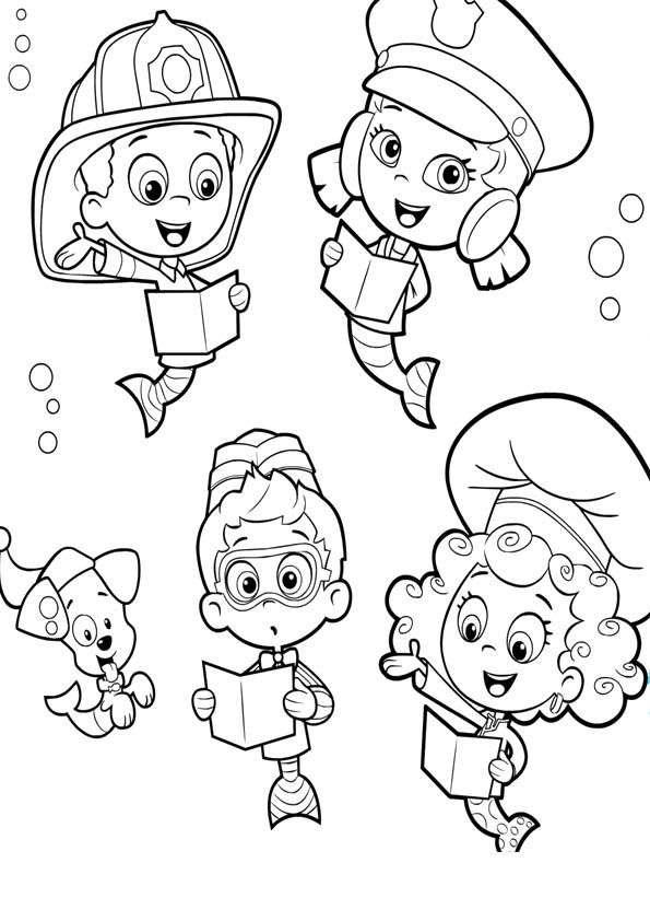 61 best Bubble Guppies Coloring Pages images on Pinterest