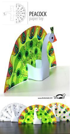 Glue-less printable PEACOCK