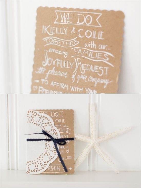 easy handmade wedding invitation idea