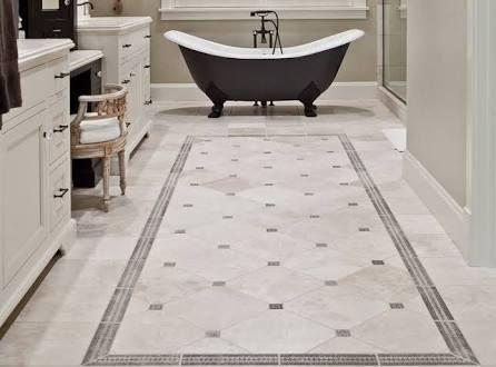 Vintage Bathroom Decor Ideas With Simple Vintage Bathroom Floor Tile Pattern Part 76