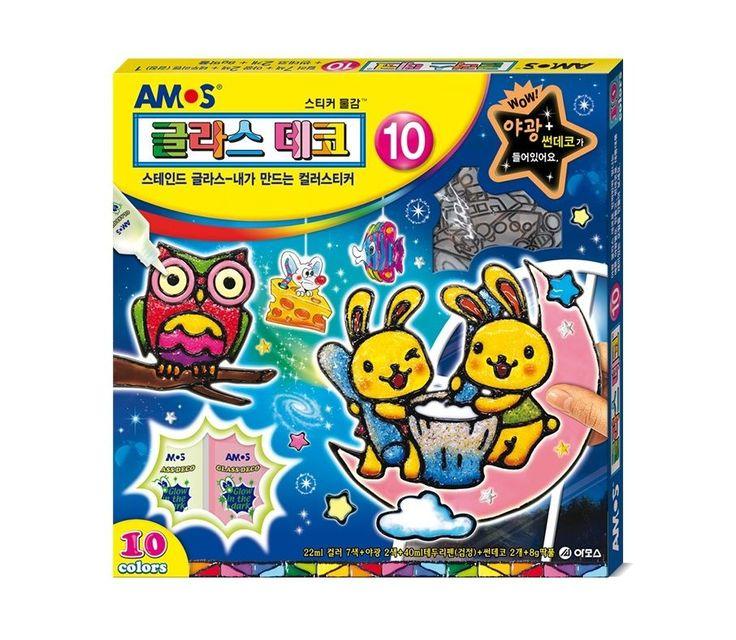 Window Paint Sticker Glass Deco 10 for Kids AMOS Magic Art 10 Colors DIY #AMOS