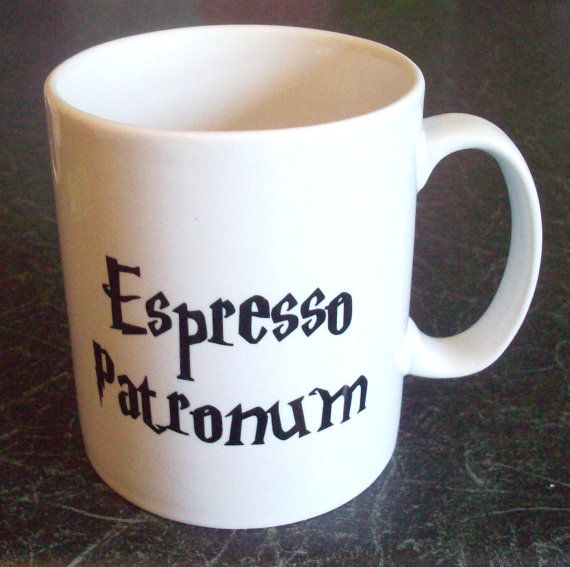 I just love coffee mugs especially when they have clever and nerdy things on them! HP Espresso Patronum