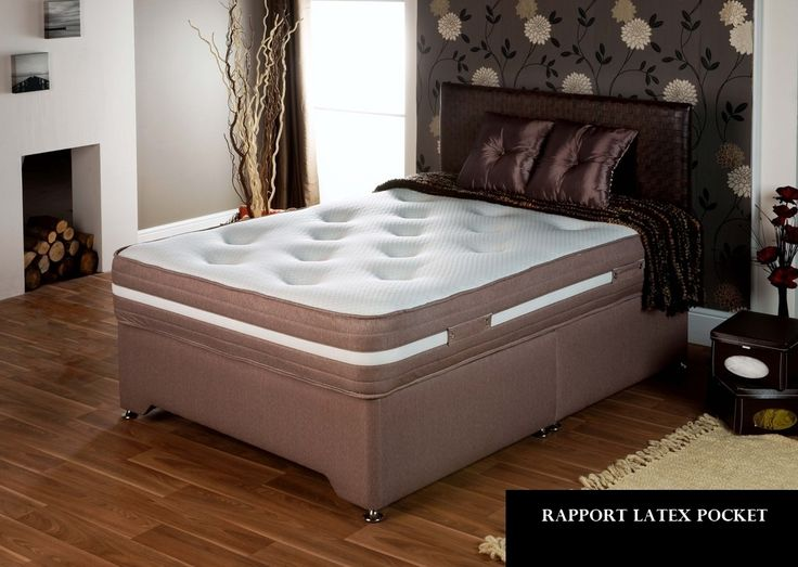 3ft Rapport Latex Pocket Divan Bed - £749.95 - The Rapport consists of a beautifully finished medium tension pocket sprung mattress with well over 1000 superbly supportive hand nested pocket springs* with deep layers of natural latex which moulds perfectly to the contours of your body.  Soft white fibre upholstery adds a level of softness then finished with pure new woolen tufts for added comfort. This bed can make you want to go to bed early!