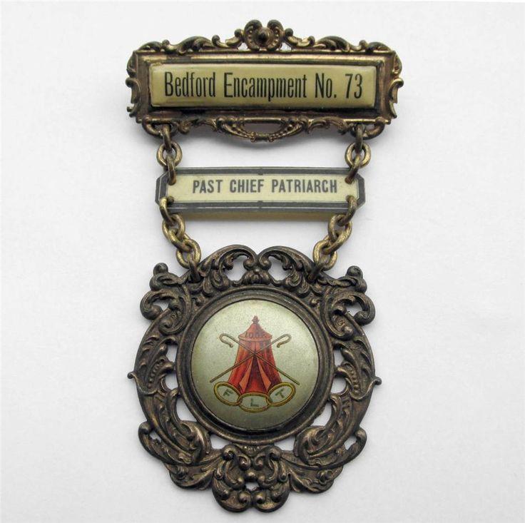 ODD FELLOWS Encampment Medal Badge Pin BEDFORD IOWA IA NO. 73 IOOF FLT.