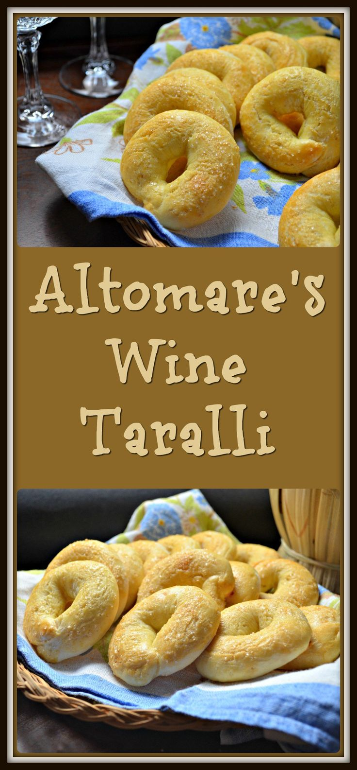 An authentic recipe for this great Italian snack food originating from the region of Naples. Altomare's Wine Taralli is the real thing.