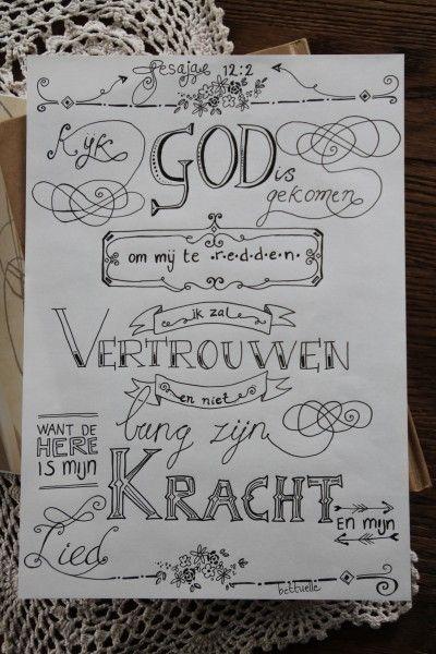 Mooie letters tekenen... een prachtige bijbeltekst in handlettering!