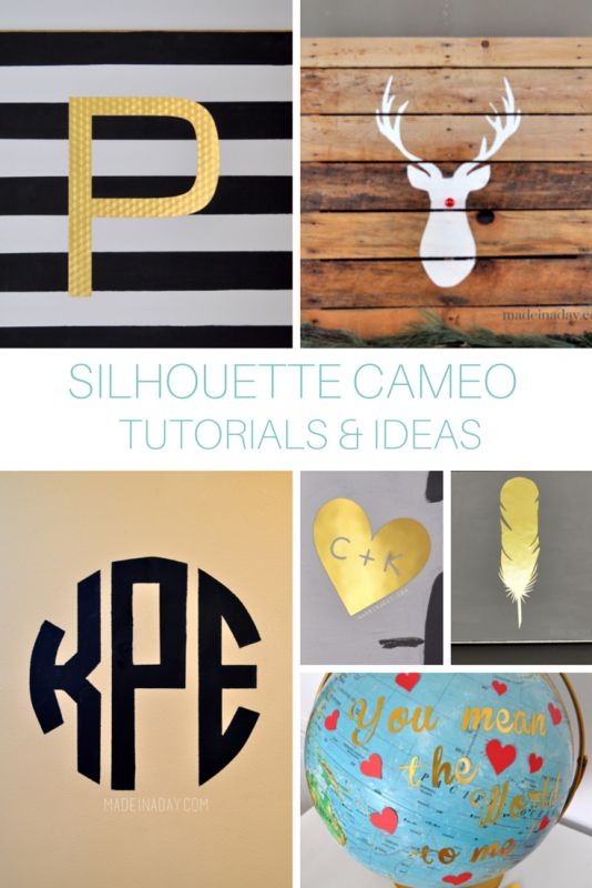DIY tutorials with the Silhouette CAMEO!