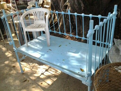 TURQUOISE VINTAGE COT FOR A DAY BED!  www.heyjudesbarn.co.za