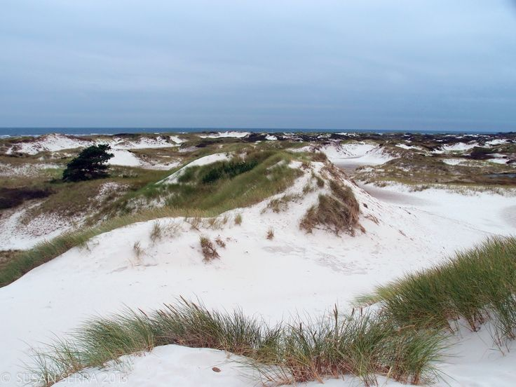 Majestic dunes surrounding clean bodies of water - Bornholm, Denmark