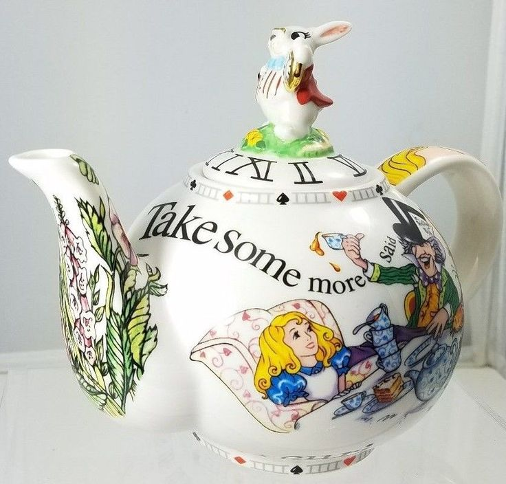 ALICE IN WONDERLAND / WHITE RABBIT /  TEAPOT BY PAUL CARDEW DATED 2008