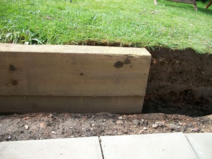 driveways with sleeper walls - Google Search