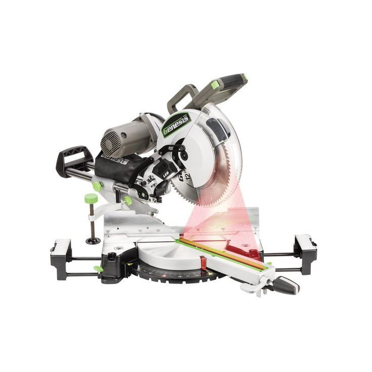 Genesis 15 Amp 12 in. Dual-Bevel Sliding Compound Miter Saw with Laser