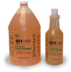 Soy-gel paint stripper--non-toxic, no fumes