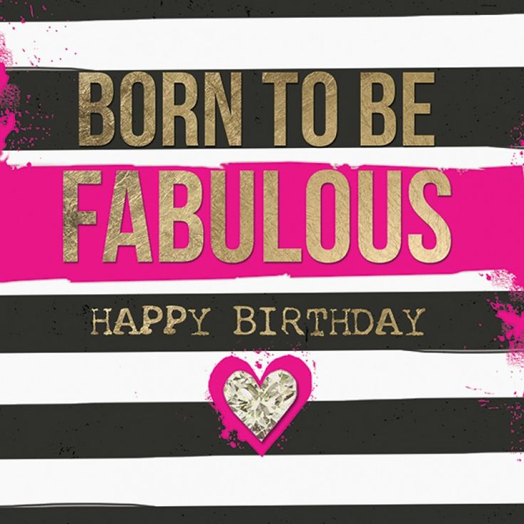 Funny Birthday Wishes Pink: Black And Neon Pink, Born To Be Fabulous
