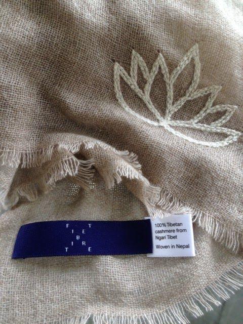 Fair trade Tibetan cashmere. Exquisite cashmere shawl woven in Nepal. www.fibretibet.com