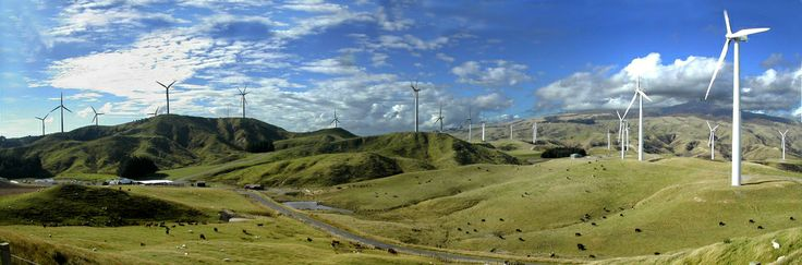 Wind farm, Palmerston North, New Zealand