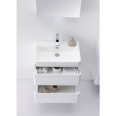 Photo On Eviva Glazzy Inch Wall Mount Modern Bathroom Vanity High Glossy White white wall mount Size Single Vanities Wood