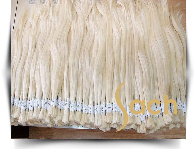 Platin Sarı Açılmış Ham Saç  70 Cm 75 Cm 100 Gram En İyi Kalite