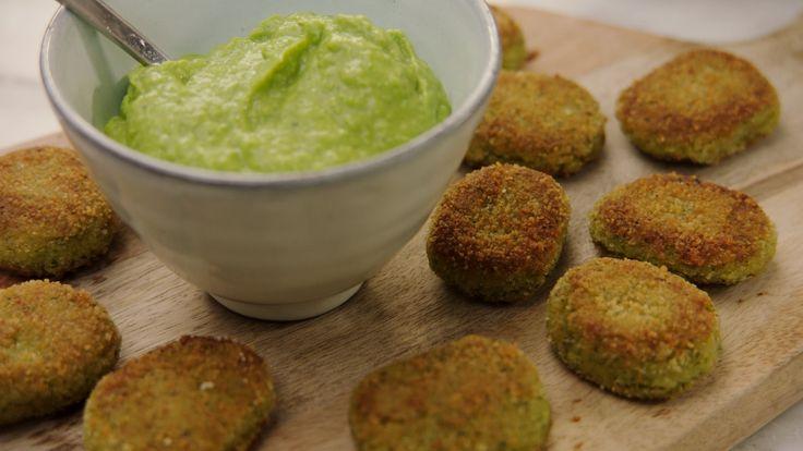 Recept bloemkoolnuggets met dipsaus van avocado