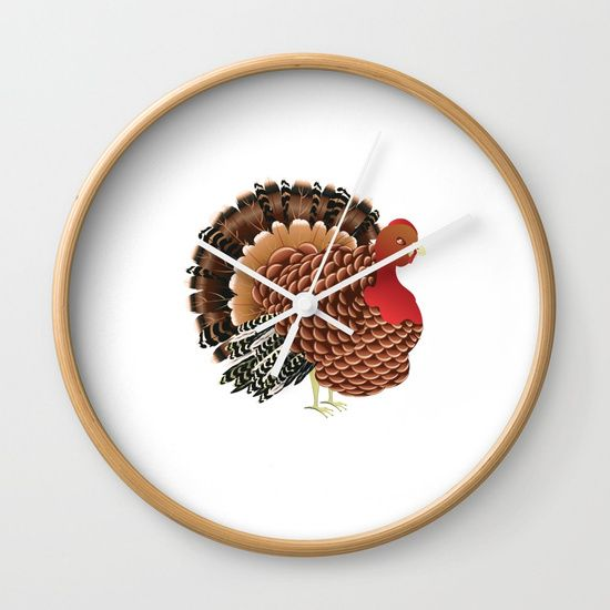 Cartoon turkey Wall Clock