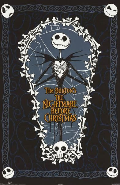 A sweet poster of Jack Skellington from Tim Burton's eerily funHalloweenmovie A Nightmare Before Christmas - one of the best animated films of all time! Fully