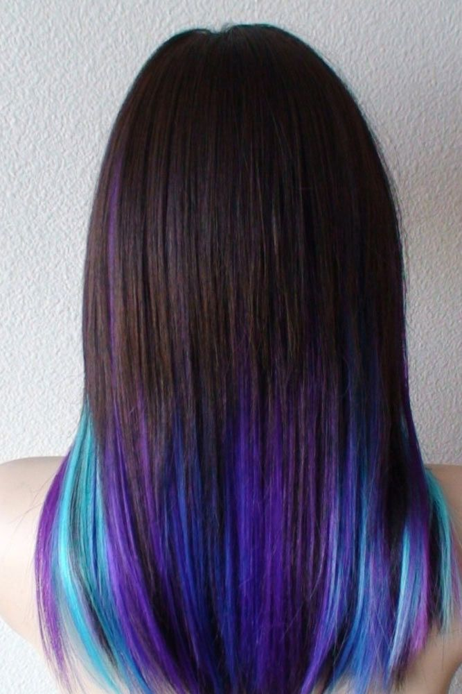 55 Fabulous Rainbow Hair Color Ideas Ombre Hair Brunette