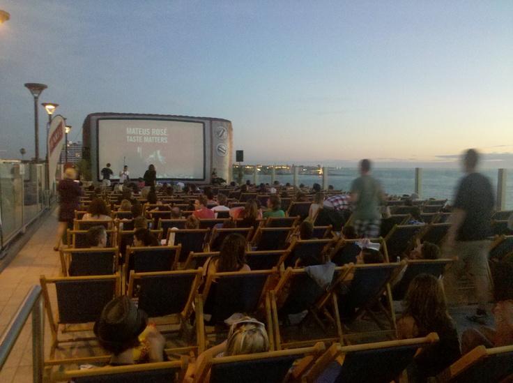 Rooftop open air cinema @ St Kilda Beach