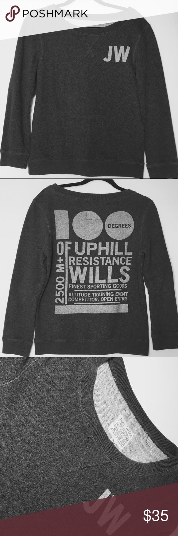 """Jack Wills Sweatshirt Slate grey sweatshirt. Great quality!  Small mark on the front - hardly noticeable (see last pic). Size 4 or XS/S.  Measures 18"""" laying flat pit to pit and 23"""" long. No trades. Jack Wills Tops Sweatshirts & Hoodies"""