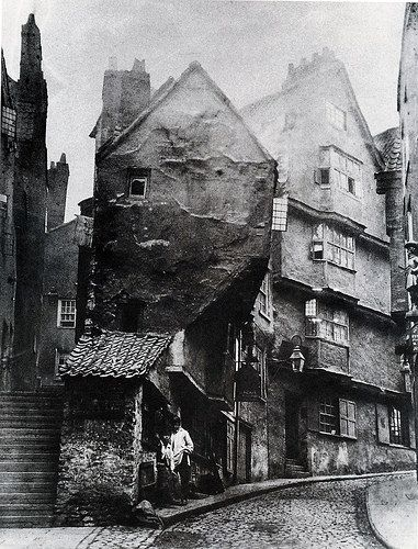 1866 medieval Steep Street from the junction with Trenchard Street | Flickr - Photo Sharing!