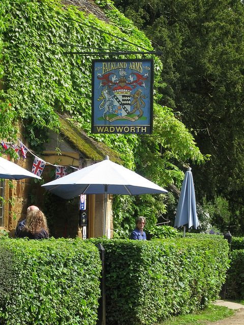 Falkland Arms, Great Tew.  Exactly what I envision when I think of British pubs!